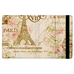Floral Eiffel Tower Vintage French Paris Art Apple Ipad 2 Flip Case by chicelegantboutique