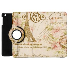 Floral Eiffel Tower Vintage French Paris Art Apple Ipad Mini Flip 360 Case by chicelegantboutique