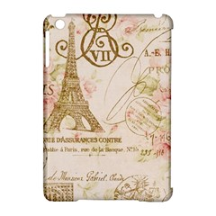 Floral Eiffel Tower Vintage French Paris Art Apple Ipad Mini Hardshell Case (compatible With Smart Cover) by chicelegantboutique