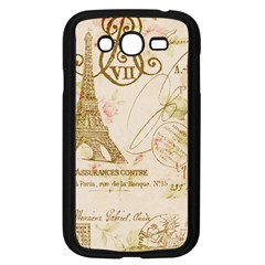 Floral Eiffel Tower Vintage French Paris Art Samsung I9082(galaxy Grand Duos)(black) by chicelegantboutique