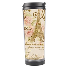 Floral Eiffel Tower Vintage French Paris Art Travel Tumbler by chicelegantboutique