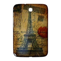 Vintage Stamps Postage Poppy Flower Floral Eiffel Tower Vintage Paris Samsung Galaxy Note 8 0 N5100 Hardshell Case  by chicelegantboutique