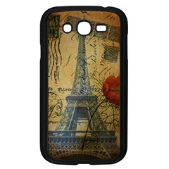 Vintage Stamps Postage Poppy Flower Floral Eiffel Tower Vintage Paris Samsung I9082(galaxy Grand Duos)(black) by chicelegantboutique