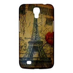 Vintage Stamps Postage Poppy Flower Floral Eiffel Tower Vintage Paris Samsung Galaxy Mega 6 3  I9200 by chicelegantboutique