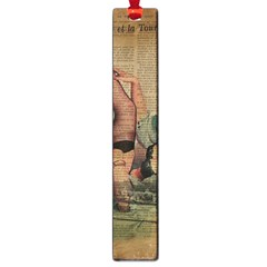 Vintage Newspaper Print Sexy Hot Pin Up Girl Paris Eiffel Tower Large Bookmark by chicelegantboutique