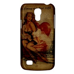 Vintage Newspaper Print Sexy Hot Gil Elvgren Pin Up Girl Paris Eiffel Tower Samsung Galaxy S4 Mini Hardshell Case  by chicelegantboutique