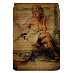 Vintage Newspaper Print Sexy Hot Gil Elvgren Pin Up Girl Paris Eiffel Tower Removable Flap Cover (large) by chicelegantboutique