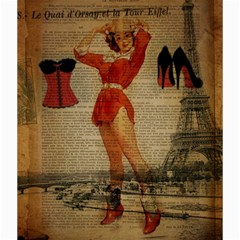 Vintage Newspaper Print Sexy Hot Gil Elvgren Pin Up Girl Paris Eiffel Tower Western Country Naughty  Canvas 20  X 20  (unframed) by chicelegantboutique