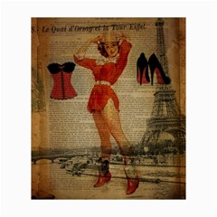 Vintage Newspaper Print Sexy Hot Gil Elvgren Pin Up Girl Paris Eiffel Tower Western Country Naughty  Canvas 20  X 24  (unframed) by chicelegantboutique