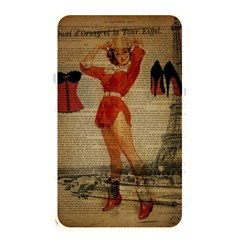 Vintage Newspaper Print Sexy Hot Gil Elvgren Pin Up Girl Paris Eiffel Tower Western Country Naughty  Memory Card Reader (rectangular) by chicelegantboutique