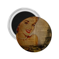Yellow Dress Blonde Beauty   2.25  Button Magnet by chicelegantboutique