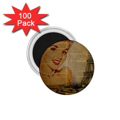 Yellow Dress Blonde Beauty   1 75  Button Magnet (100 Pack) by chicelegantboutique