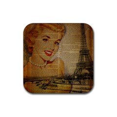 Yellow Dress Blonde Beauty   Drink Coasters 4 Pack (square)