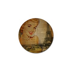 Yellow Dress Blonde Beauty   Golf Ball Marker 4 Pack by chicelegantboutique