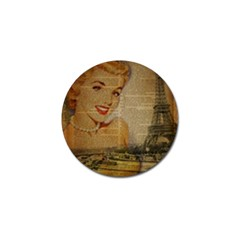 Yellow Dress Blonde Beauty   Golf Ball Marker 10 Pack by chicelegantboutique
