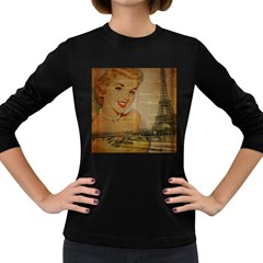 Yellow Dress Blonde Beauty   Womens' Long Sleeve T Shirt (dark Colored)