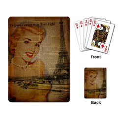 Yellow Dress Blonde Beauty   Playing Cards Single Design by chicelegantboutique
