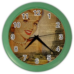Yellow Dress Blonde Beauty   Wall Clock (color) by chicelegantboutique
