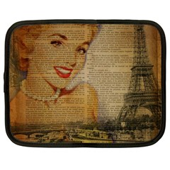 Yellow Dress Blonde Beauty   Netbook Case (xl) by chicelegantboutique