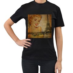 Yellow Dress Blonde Beauty   Womens' T Shirt (black) by chicelegantboutique
