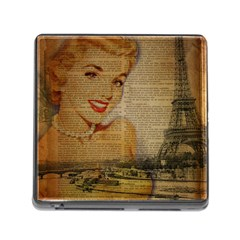 Yellow Dress Blonde Beauty   Memory Card Reader With Storage (square) by chicelegantboutique