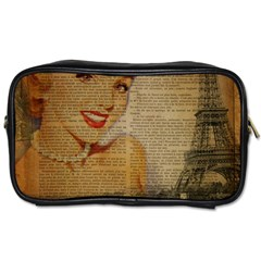 Yellow Dress Blonde Beauty   Travel Toiletry Bag (two Sides) by chicelegantboutique