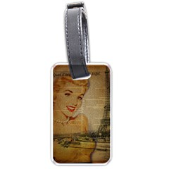 Yellow Dress Blonde Beauty   Luggage Tag (one Side) by chicelegantboutique