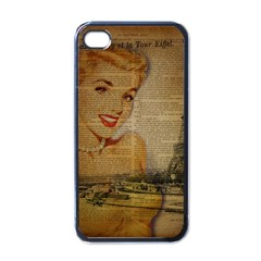 Yellow Dress Blonde Beauty   Apple Iphone 4 Case (black) by chicelegantboutique