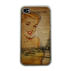 Yellow Dress Blonde Beauty   Apple Iphone 4 Case (clear) by chicelegantboutique