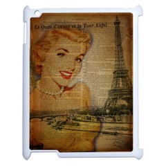 Yellow Dress Blonde Beauty   Apple Ipad 2 Case (white) by chicelegantboutique