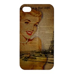 Yellow Dress Blonde Beauty   Apple Iphone 4/4s Hardshell Case by chicelegantboutique