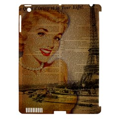 Yellow Dress Blonde Beauty   Apple Ipad 3/4 Hardshell Case (compatible With Smart Cover) by chicelegantboutique