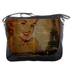 Yellow Dress Blonde Beauty   Messenger Bag