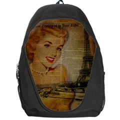 Yellow Dress Blonde Beauty   Backpack Bag by chicelegantboutique