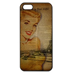 Yellow Dress Blonde Beauty   Apple Iphone 5 Seamless Case (black) by chicelegantboutique