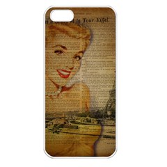 Yellow Dress Blonde Beauty   Apple Iphone 5 Seamless Case (white) by chicelegantboutique