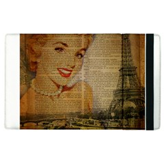 Yellow Dress Blonde Beauty   Apple Ipad 2 Flip Case by chicelegantboutique