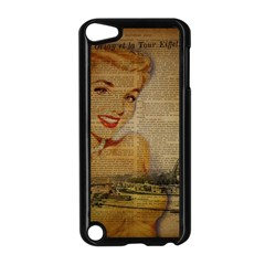 Yellow Dress Blonde Beauty   Apple Ipod Touch 5 Case (black) by chicelegantboutique