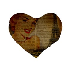 Yellow Dress Blonde Beauty   16  Premium Heart Shape Cushion  by chicelegantboutique