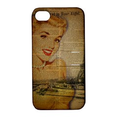 Yellow Dress Blonde Beauty   Apple Iphone 4/4s Hardshell Case With Stand by chicelegantboutique