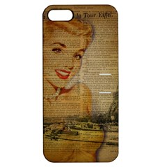 Yellow Dress Blonde Beauty   Apple Iphone 5 Hardshell Case With Stand by chicelegantboutique