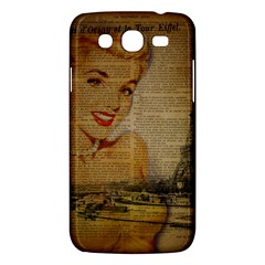 Yellow Dress Blonde Beauty   Samsung Galaxy Mega 5 8 I9152 Hardshell Case  by chicelegantboutique