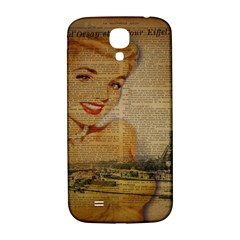 Yellow Dress Blonde Beauty   Samsung Galaxy S4 I9500/i9505  Hardshell Back Case by chicelegantboutique