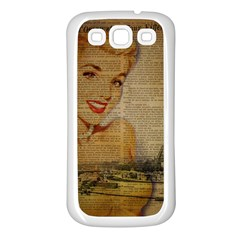 Yellow Dress Blonde Beauty   Samsung Galaxy S3 Back Case (white) by chicelegantboutique