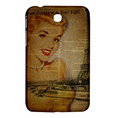Yellow Dress Blonde Beauty   Samsung Galaxy Tab 3 (7 ) P3200 Hardshell Case  by chicelegantboutique