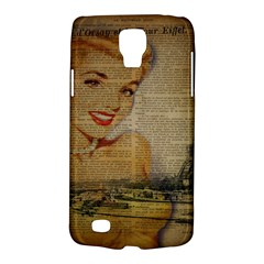 Yellow Dress Blonde Beauty   Samsung Galaxy S4 Active (i9295) Hardshell Case by chicelegantboutique