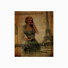 Retro Telephone Lady Vintage Newspaper Print Pin Up Girl Paris Eiffel Tower Canvas 20  X 30  (unframed) by chicelegantboutique