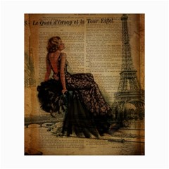 Elegant Evening Gown Lady Vintage Newspaper Print Pin Up Girl Paris Eiffel Tower Canvas 20  X 24  (unframed) by chicelegantboutique