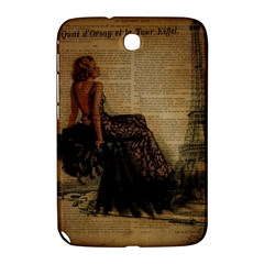 Elegant Evening Gown Lady Vintage Newspaper Print Pin Up Girl Paris Eiffel Tower Samsung Galaxy Note 8 0 N5100 Hardshell Case  by chicelegantboutique