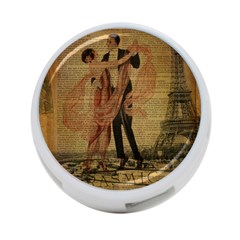 Vintage Paris Eiffel Tower Elegant Dancing Waltz Dance Couple  4 Port Usb Hub (two Sides) by chicelegantboutique